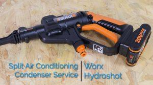 Split Air Conditioning Condenser Service With The Worx Hydroshot